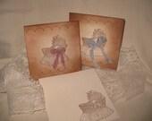 Vintage Style Baby Shower Invitation Card Announcement Birthday Girl Boy Twins ECS