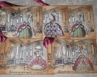 Salon - The Petit Trianon - Versailles Marie Antoinette Jumbo Gift Tags