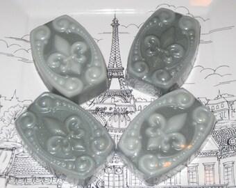 Handmade Soap, Shea Butter Soap, Fleur De Lis Soap, Vintage Patina Soap, Guest Soap, French Inspired Soap, Vegan Soap, Natural Soap, ECS