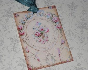 Vintage Paris Roses Gift Tags Paris Apartment Ooh La La