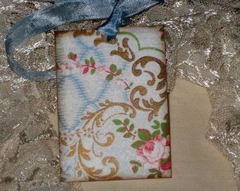 Vintage Spring Wall Paper Gift Tags ECS Tattered Vintage Style