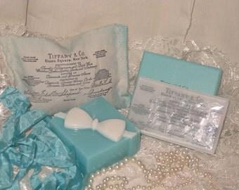 Natural Shea Butter Soap, Gift Box Soap, Soap with Vintage Inspired Design, Soap Gift Set Vegan Friendly Soap, French Lavender Sachet, ECS