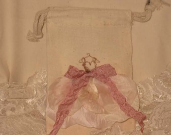 Muslin Wedding Shower Party Favor Gift Bag Wedding Dress