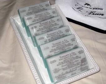 Handmade Soap, Wedding Favor Soap, Shower Favor Soap, Natural Shea Butter Lavender Soap with Vintage Receipt Design, Vegan Friendly
