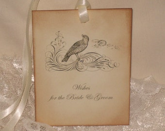 Vintage Wedding Wish Tree Tags for the Bride and Groom ECS