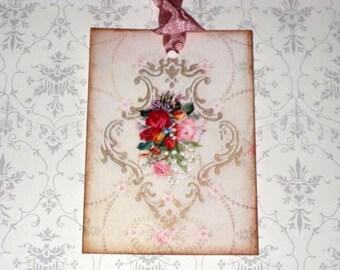 Vintage Paris Roses Gift Tags Paris Apartment Ooh La La Paris No.7