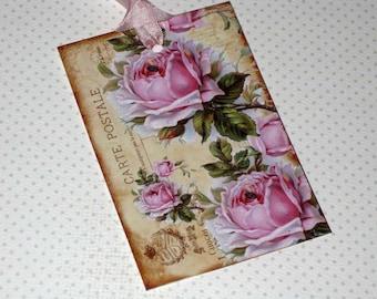 Vintage Paris Roses Gift Tags Paris Apartment Carte Postale Ooh La La Paris