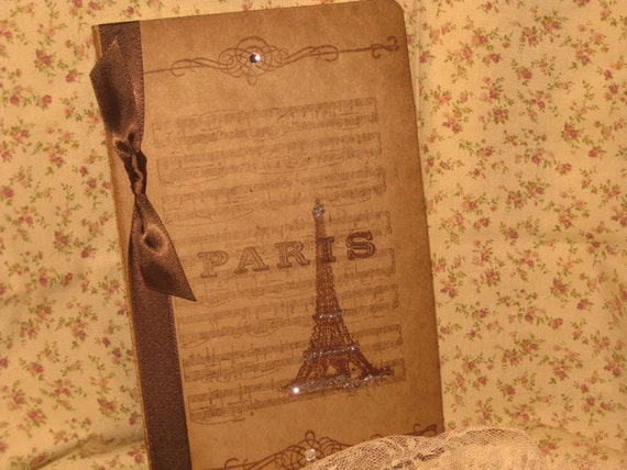 Moleskine French Vintage Inspired and Designed Notebook Cahier With Music and Eiffel Tower Ooh la la ECS
