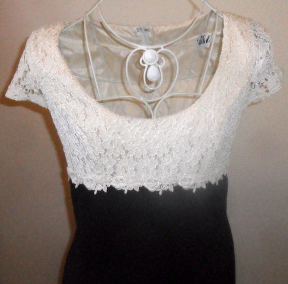 Black and White Lace Dress Size 8
