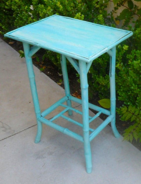 Lovely Tall Chinoiserie Bamboo Table
