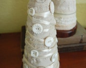 Tabletop Christmas Tree Decoration with White Buttons