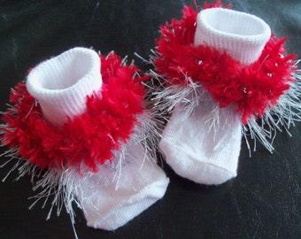 """All Sizes Available! """"Ohio Girl"""" ~ Beaded Embellished Socks!, OSU, Ohio State University"""