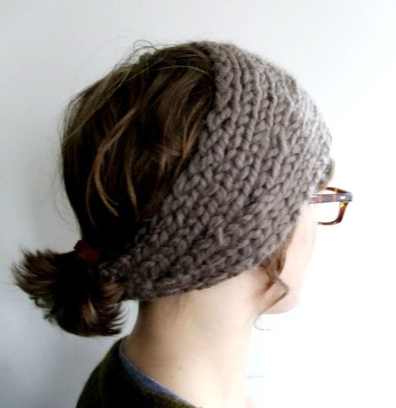 Knitted Headband Patterns Wide : Wide Knit Headband / Wrap