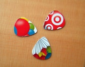 Guitar Picks - Target Bullseye Balloons 3 pack - Upcycled Redeemed Used Gift Cards Credit Cards