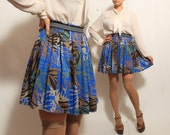 SALE Floral Pleated High Waisted Skirt - Size small