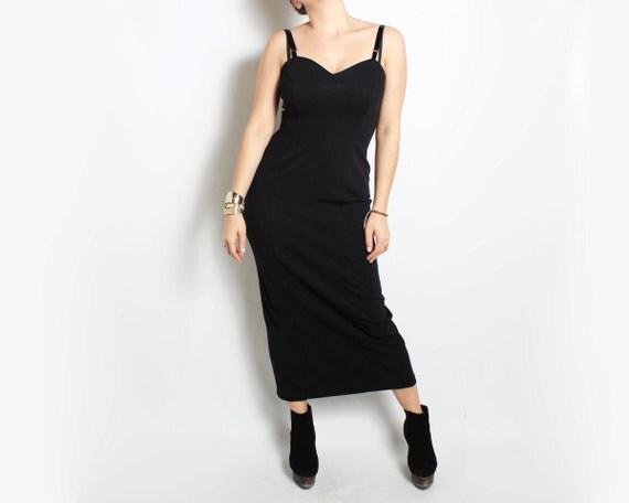 Black Dress, Little Black Dress, Long Dress - size small sm