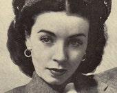 Vintage Crowning Glory Crochet Hat Pattern PDF