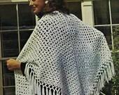 Hippie Style  Crochet Shawl Pattern pdf