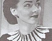Gorgeous Vintage Two Tone Collar Knitting Pattern pdf