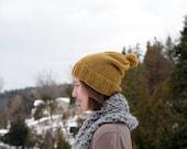 skating hat // ochre