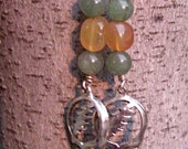Grateful Dead Stealie Wire Wrapped Earrings with Gemstones