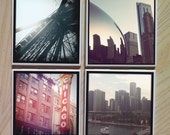 Instagram Photo Ceramic Coasters - Set of Four - Chicago Series