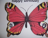 Butterfly Card for Birthdays for Friends or Loved Ones
