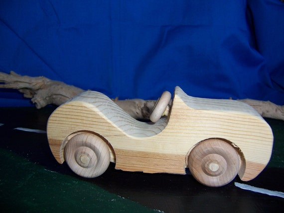 Super Sport Car Handcrafted of Recycled Wood for Kids, Children