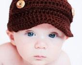 Baby Newsboy Hat Crochet Pattern - Sizes Newborn to Adult