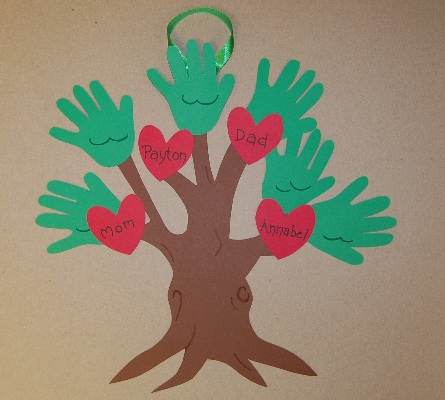 Clearance handprint family tree keepsake craft kit for Family arts and crafts