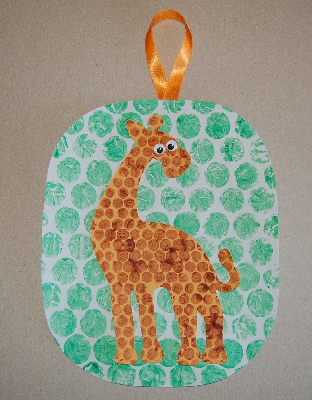 CLEARANCE Bubble Giraffe Craft Kit