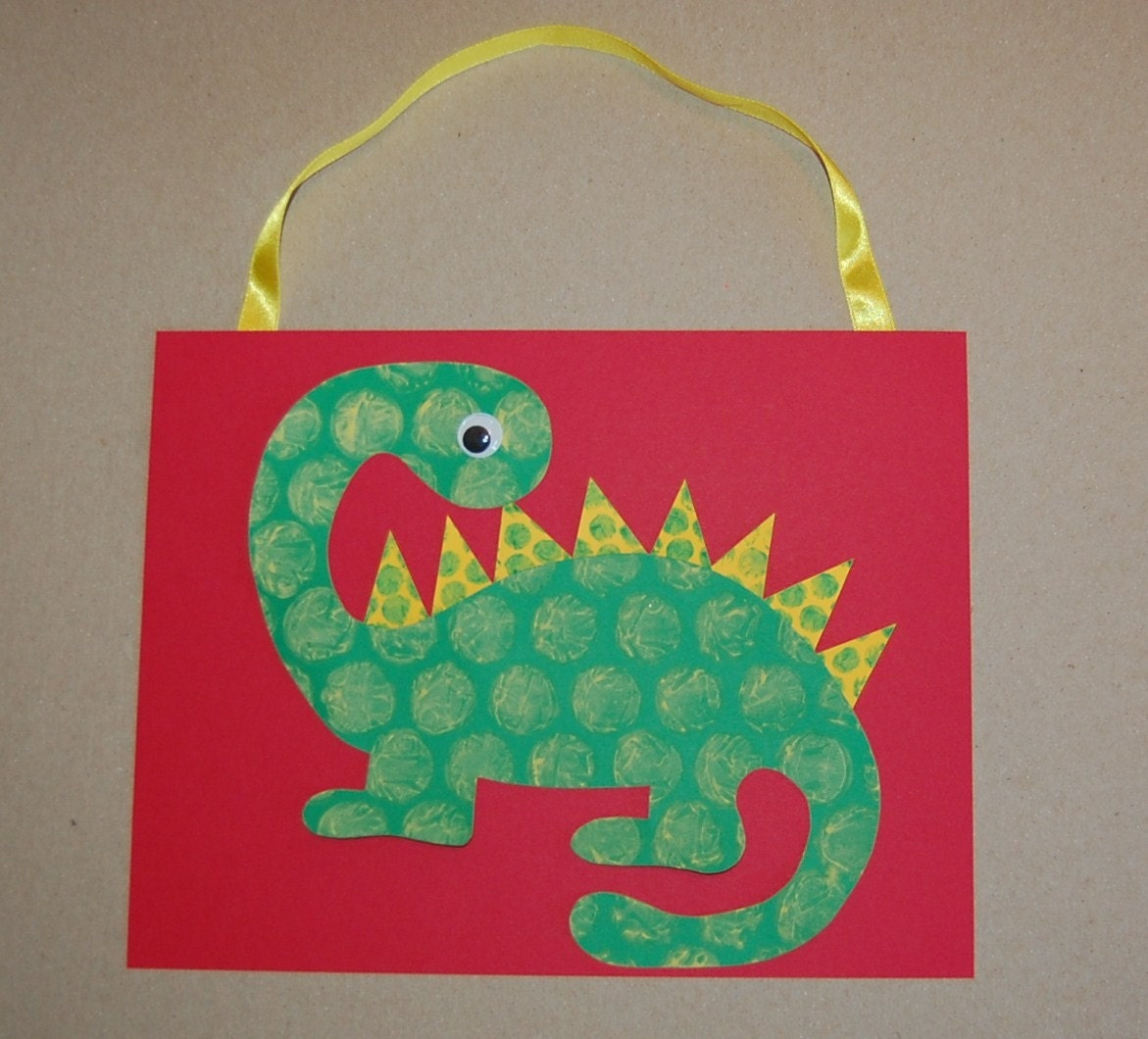Clearance bubble dinosaur craft kit by craftsforkids on etsy for Dinosaur crafts for toddlers