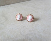 Pretty Little Cameo Lady in Vintage Pink  SALE 50% off