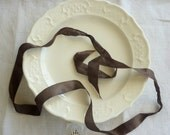 Ironstone dessert plates, set of four. creamware. american. eveteam