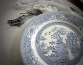 HALF PRICE SALE - Vintage Willow ware plate from England