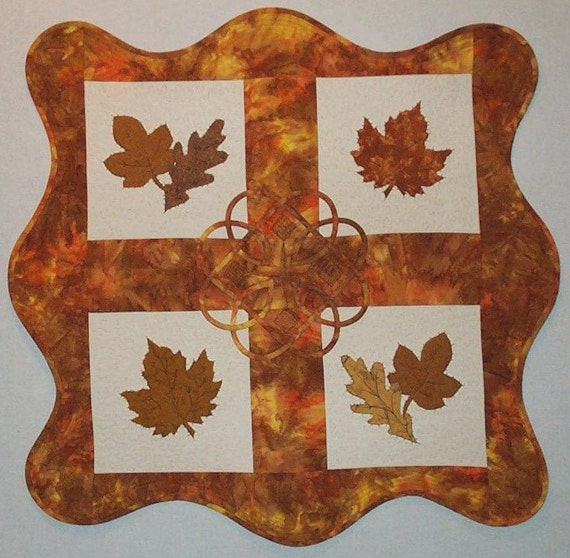 Art Quilt - Leaves of Kell No.2 OOAK Wall Hanging Quiltsy Handmade