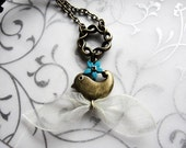 Whimsical Blue Bird Necklace