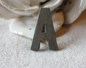 Bronze letter A - hand made - old