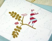 Greeting cards, deer turtle bird, blank for own personal message. (set of 6)