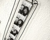 Reserved for Seth Gold: Two Hand made Steel Wire Frame for Photo Booth Pictures