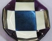 Octagonal Fused Glass Dish