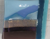 Square Fused Glass Coaster Dish