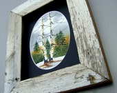 FREE SHIPPING Rustic Framed Birch and Pine Tree Forest for him
