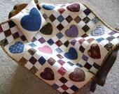 Hearts & Nine Patch Miniature Quilt