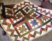 Sparkling Star Miniature Quilt Table Topper