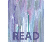Read Purple Blue White Pink Paint Typography Art Print