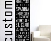 Personalized Subway Sign Canvas - Custom Made with Your Text - Vintage Inspired Underground - Wall Decor Canvas Art
