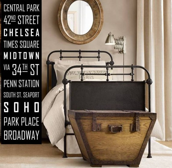 NYC New York City Subway Sign, Rollsign, Bus Blind, Tram Scroll.  Vintage Style Wall Decor. Typography sign. Art for your home. Canvas Huge