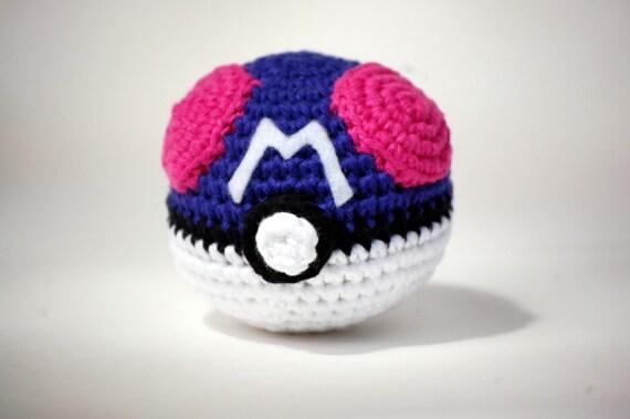 Amigurumi Pokemon Ball : Items similar to The Master Ball Pokemon Amigurumi Plush ...