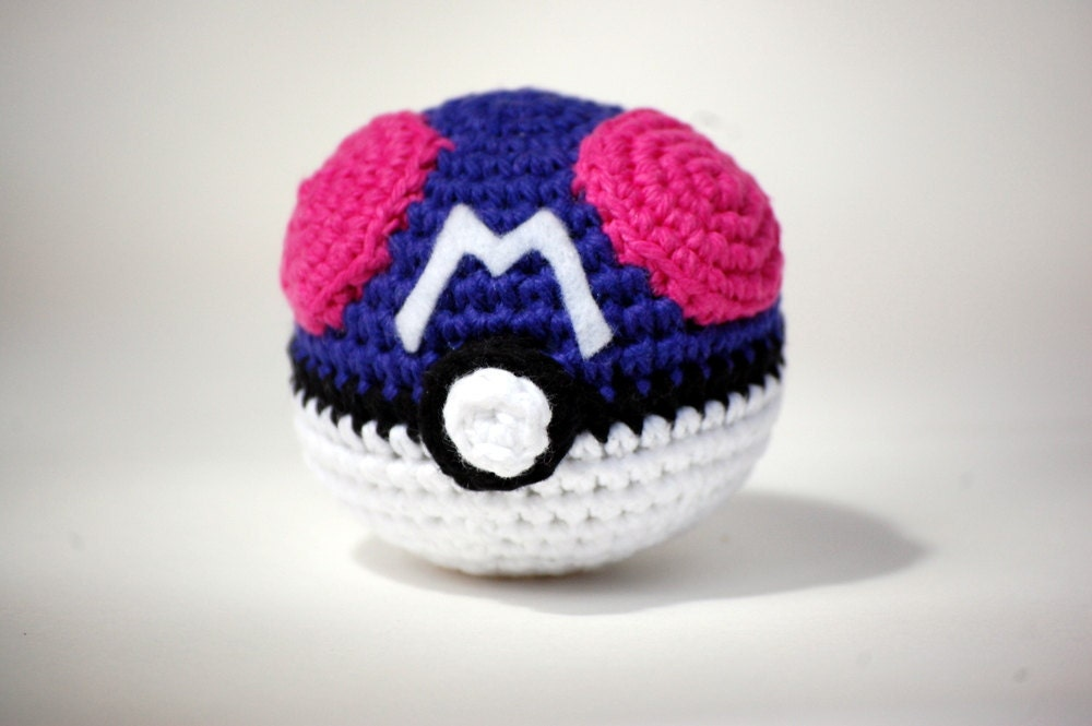Amigurumi Master Ball : The Master Ball Pokemon Amigurumi Plush by happyhandmadebyjess